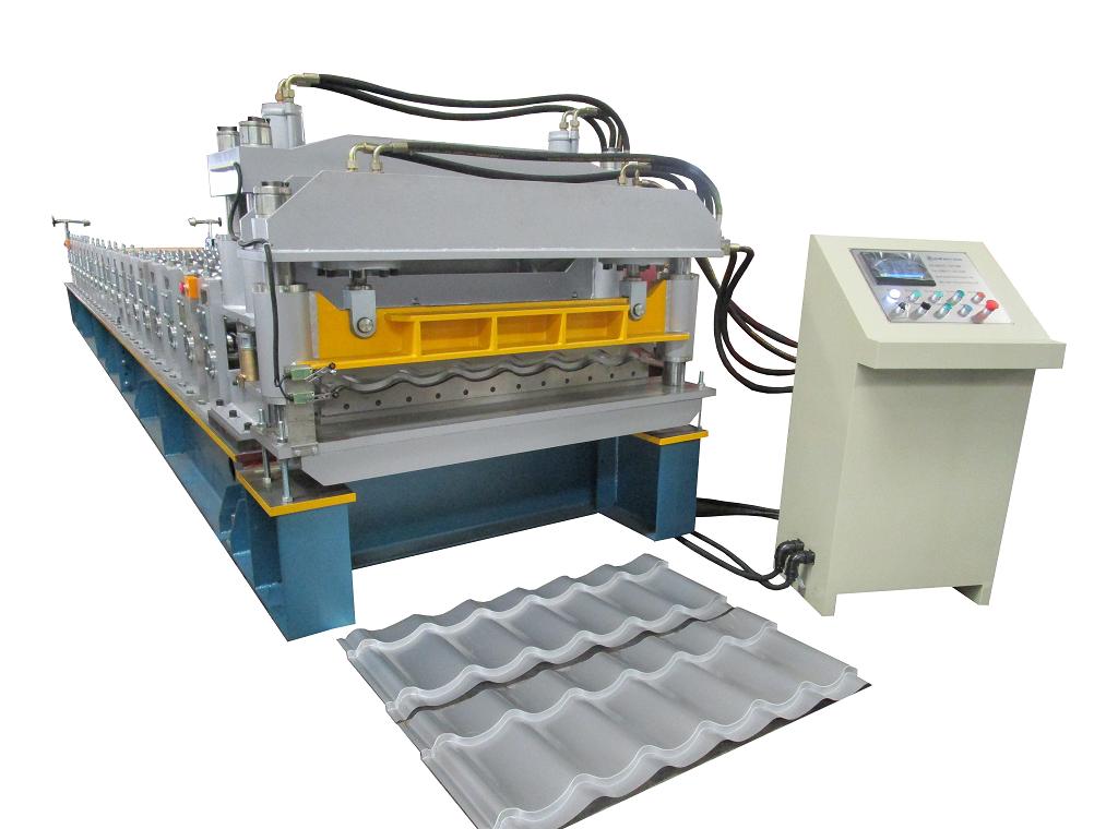 供应欧洲标准的仿古琉璃瓦机/高速金属彩钢瓦成型机设备