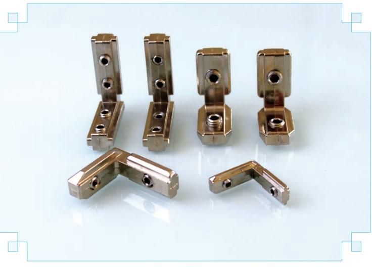 石家庄供应铝型材内链接角槽连接件