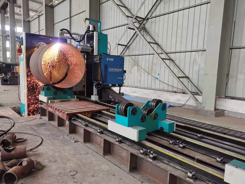 滚床式相贯线切割机 大管径管材切割机 海工行业大管切割应用