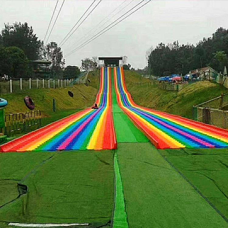 七彩滑道厂家 金耀彩虹滑道批发 彩虹滑道免费场地规划