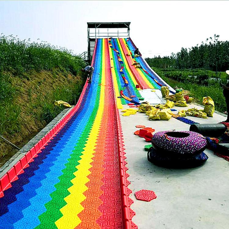 金耀彩虹滑道生产厂家 户外无动力大型游乐设施七彩滑道