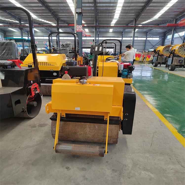 3吨1吨手扶单轮双钢轮座驾式振动草坪压实压土机