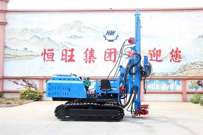 6米液压锤打桩机 360度可旋转液压锤打桩机又加压桩机 液压锤打桩机是柴油带启动