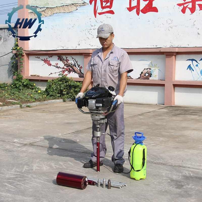 山东恒旺野外便携式地质勘探钻机岩石取芯钻机背包钻机厂家直销