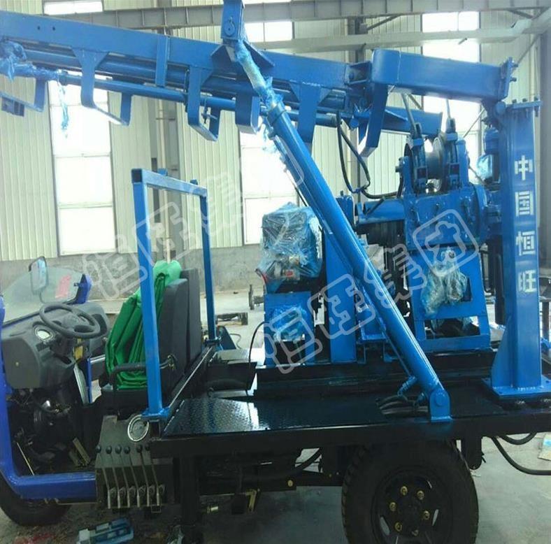 车载水井钻机恒旺三轮车载家用液压打井机