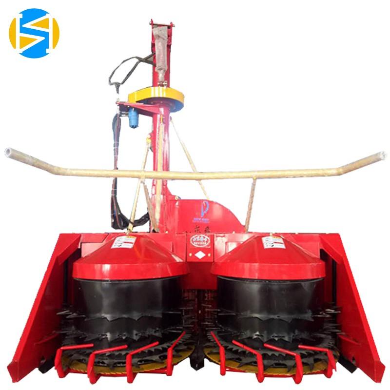 大型双圆盘式芦苇青贮机割台高效率悬挂式青储机割台生产厂家山东犇牛