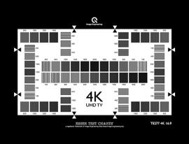 4K(UHD TV)分辨率测试卡200-2000 CPH