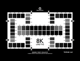 8K(UHD TV2) 分辨率测试卡200-4000 CPH