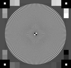 镜头分辨率测试卡TE253