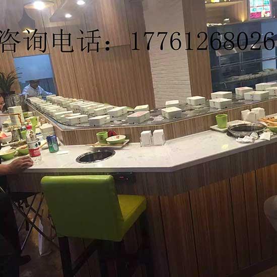 辽宁旋转式火锅设备桌厂家