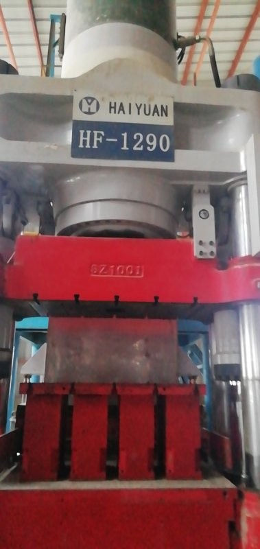 处理二手海源1290全自动液压砖机,公司可提供专业安装调试服务