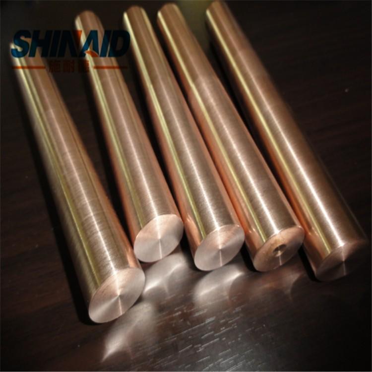 高密度钨铜棒 进口W90抗粘附耐磨钨铜棒
