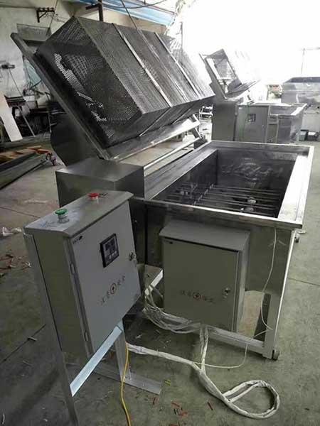 烧煤烧电自动翻转油炸锅