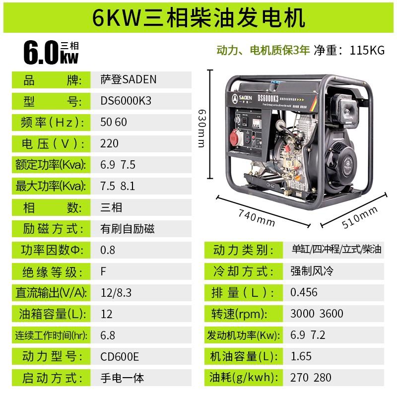 德国萨登DS5000K应急供电发电机