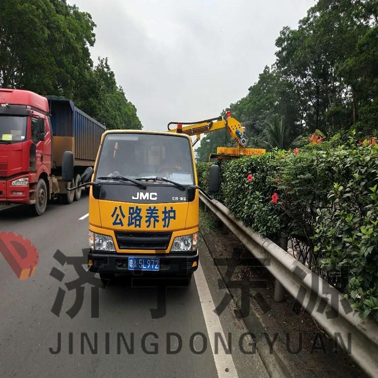 济宁东源高速公路边坡绿篱修剪机 车载式绿篱机修剪效率高