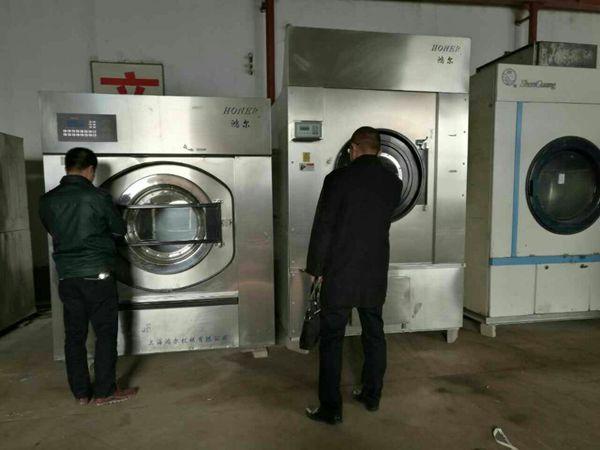 阿克苏出售二手30公斤洗布草水洗机设备,二手单滚烫平机