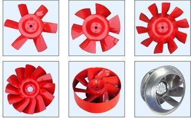 山东亚太提供各种型号材质尺寸(离心排烟混流轴流斜流)风机叶轮