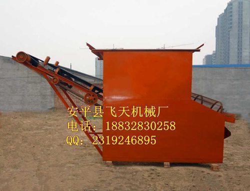 16铲车上料型筛沙机沙场用筛沙机滚筒型筛分设备