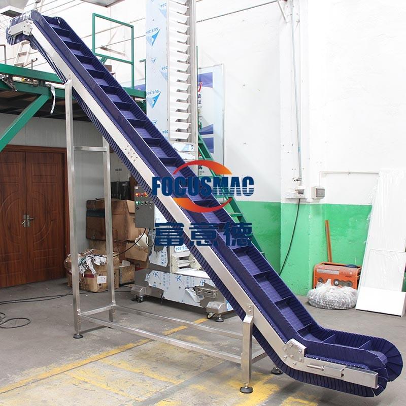 皮带输送机便携搬运大倾角输送机轻型不锈钢输送机