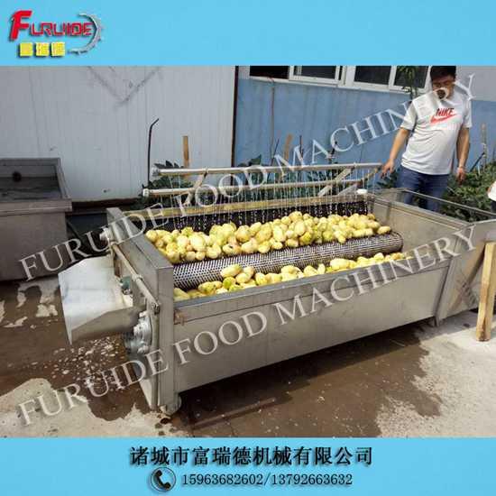 UMQ-1800/8型土豆去皮根茎类蔬菜毛辊清洗机