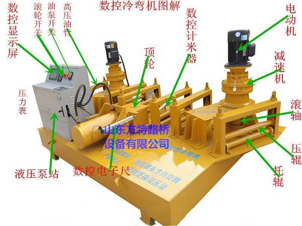 方特路桥数控型钢冷弯机