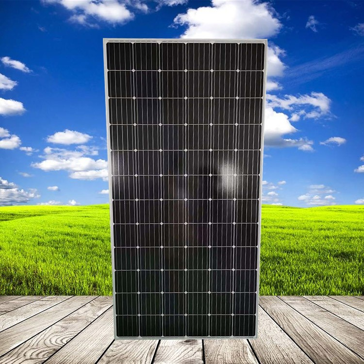 源头厂家晶天太阳能板1000V光伏电站系统500W瓦单晶太阳能发电板