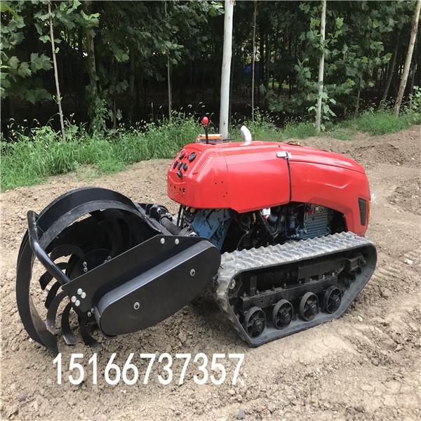 履带开沟机履带式田园管理机履带拖拉机开沟机