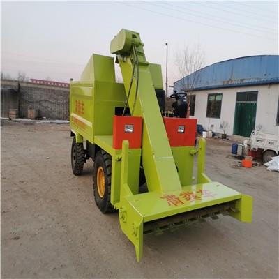 柴油型自刮式清粪车  清理牛粪运输刮粪车