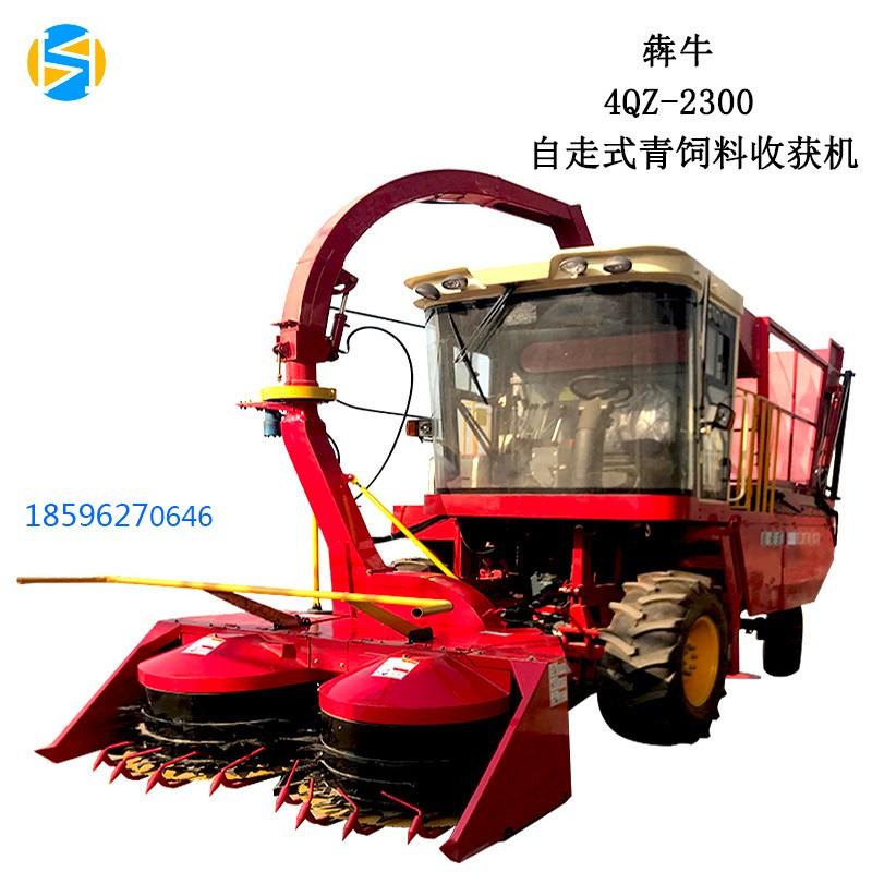大型自走式玉米青储饲料收割一体机双圆盘高效青储机割台犇牛机械
