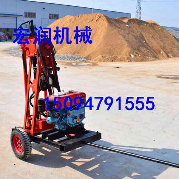 轻便型地质工程钻机可拆解重量轻 50米地质勘探取样钻机多用途