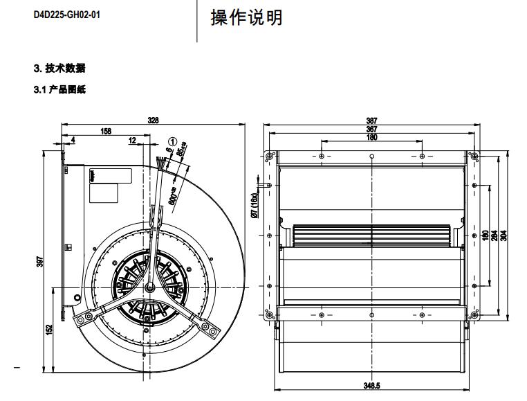 全新原装供应ebm风机D4D225-GH02-01