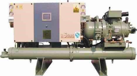 水冷螺杆式冷凝机组-冷库冷冻机组-冷冻保鲜机组-制冷设备