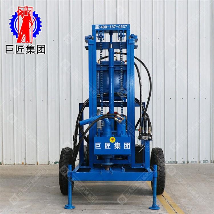 SJCY型柴油机液压打井机 电启动小型柴油机打井机
