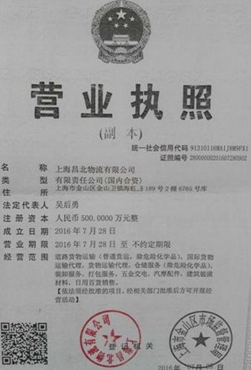 上海昌北物流有限公司