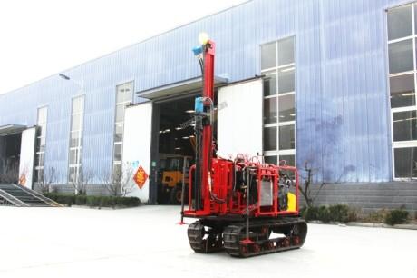 快速 气动履带水井钻机钻井150型气动履带打井机