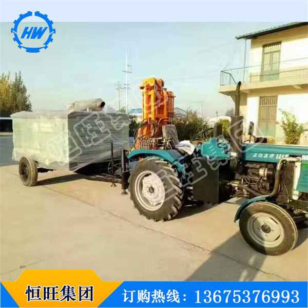 专业定制拖拉机式气动水井钻机价格 水井钻机TQZ100立式打井机