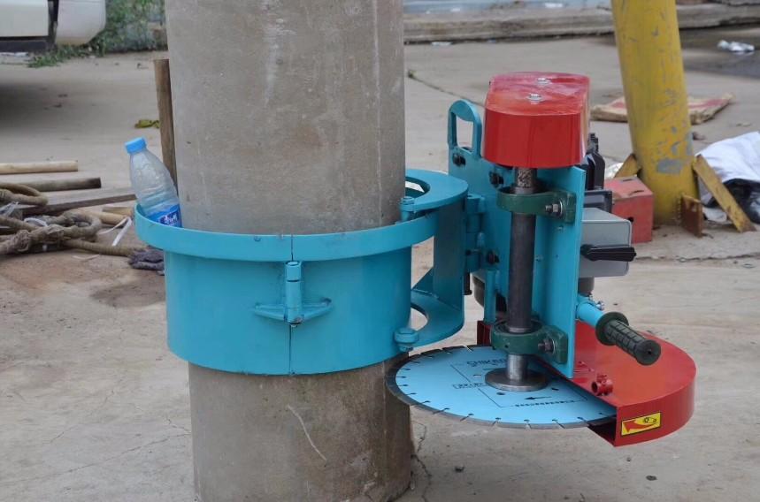 抱箍式切桩机水泥管桩头切割机卡箍式混凝土切割机
