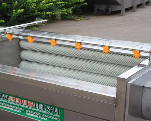 直销红薯全自动式毛辊清洗去皮机304食品机不锈钢制造JP-MG-1500