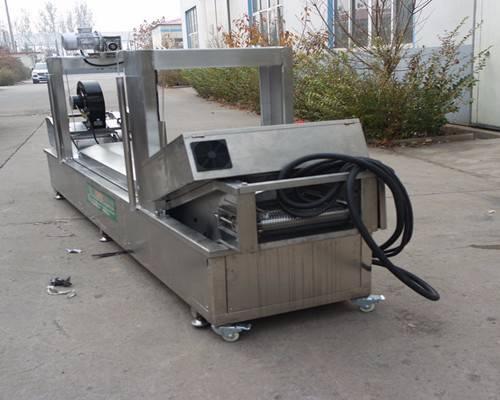 直销全自动春卷油炸机油炸线 带自动刮渣食品级不锈钢材质JP-YZX-5000