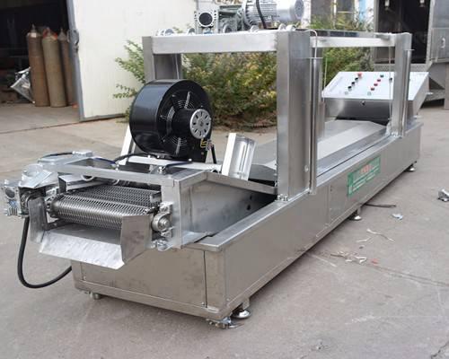 直销鸡排全自动燃气式油炸机油炸流水线304不锈钢材质JP-YZX-5000