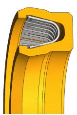 现货供应弹簧蓄能密封圈,泛塞封,弹簧张力密封