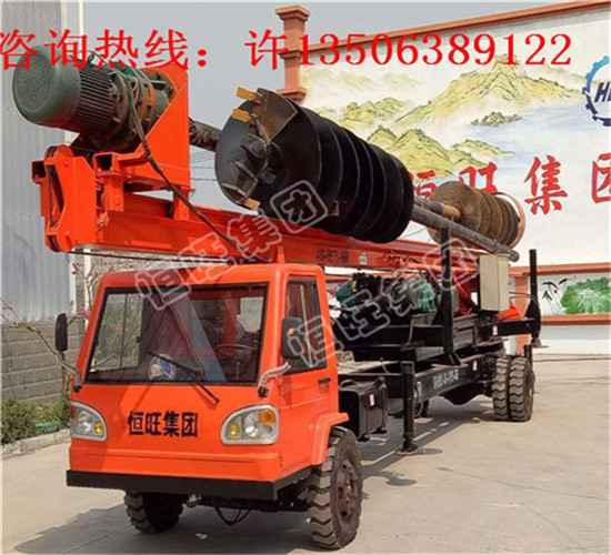 山东供应挖改螺旋打桩机进口动力头挖改光伏打桩机