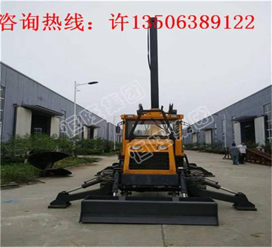 轮式旋挖打桩机地基打桩机大孔径旋挖钻机可打15米深度