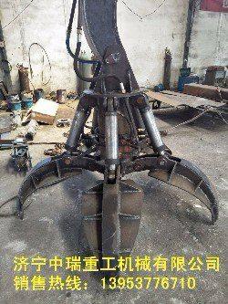 南京装载机改装抓木机 多功能装载机 抓草机现货供应