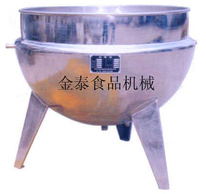 供应全钢蒸汽立式夹层锅(调味品厂)用