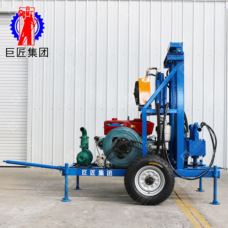 新款柴油机液压打井机 民用地源热泵工程钻凿 适应复杂地形