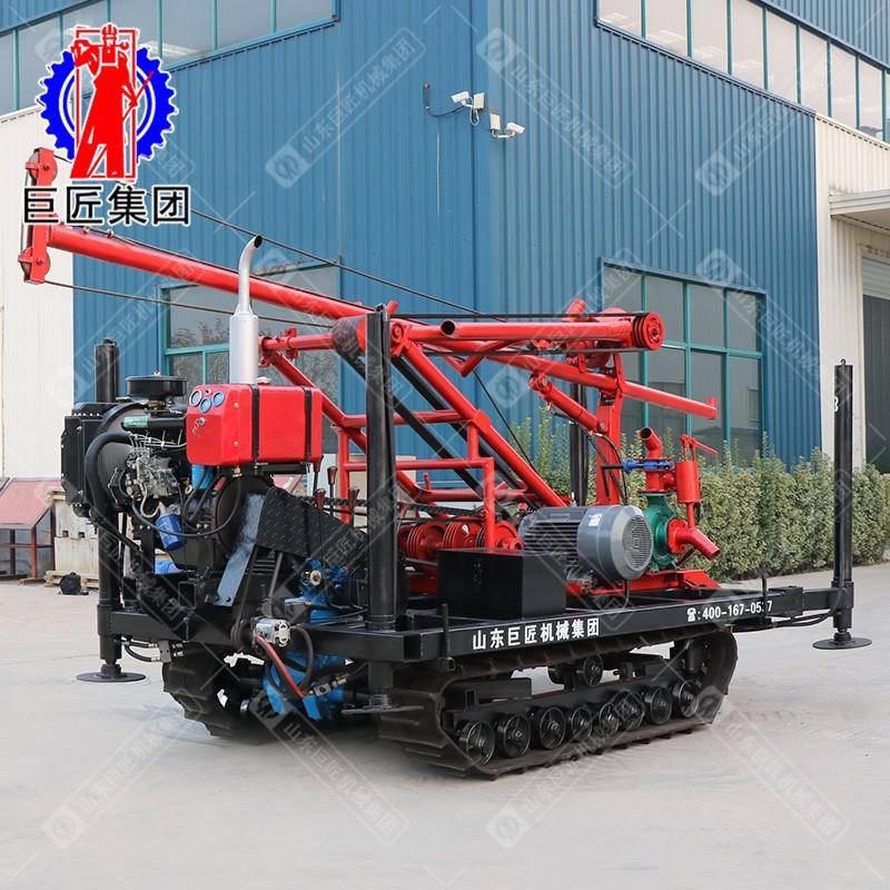 履带式柴电两用蚂蚱腿打井机油电两用四档变速进口动力