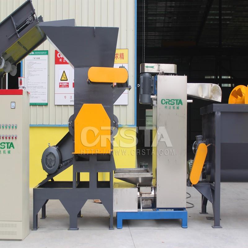 东莞柯达-供应-PC光盘去漆清洗生产线-各类光盘料电子料破碎清洗-再生机械设备