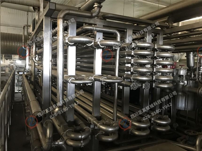 出售利乐壳体和管换热器