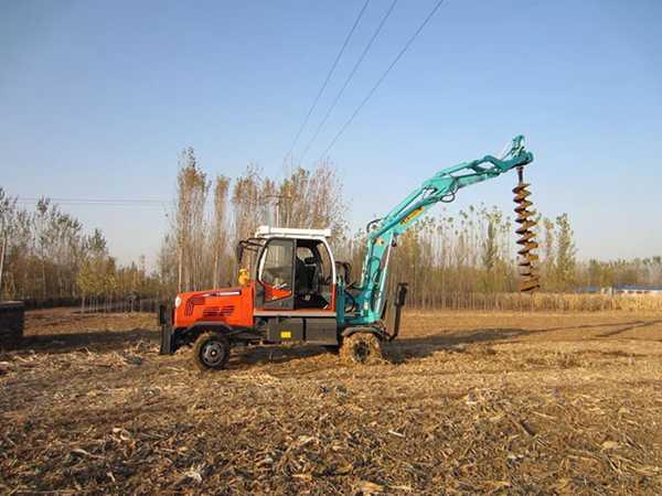 电线杆挖坑机 电线杆打眼机样式为挖掘机